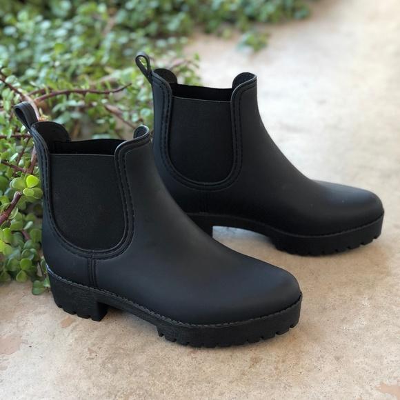 854bc0479 Jeffrey Campbell Shoes - Jeffrey Campbell Matte Black Chlesea Rain Boots